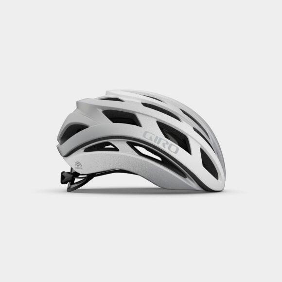 Cykelhjälm Giro Helios Spherical MIPS Matte White/Silver Fade, Medium (55 - 59 cm)