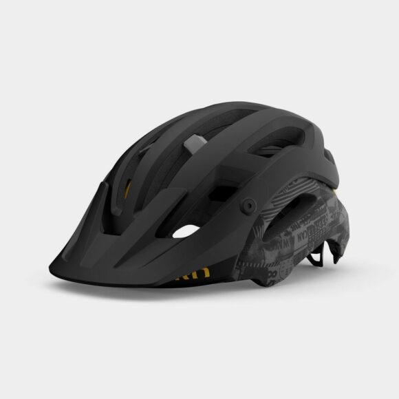 Cykelhjälm Giro Manifest Spherical MIPS Matte Black/Hypnotic, Large (59 - 63 cm)