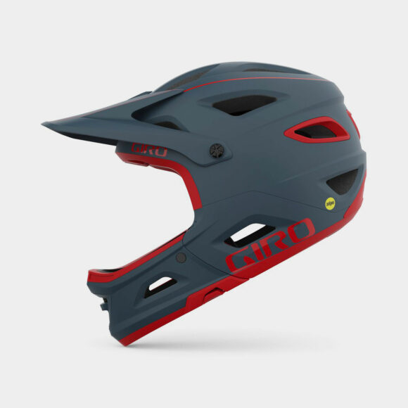 Cykelhjälm Giro Switchblade MIPS Matte Portaro Grey/Red, Small (51 - 55 cm)
