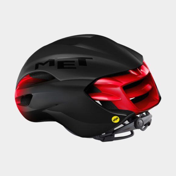 Cykelhjälm MET Manta MIPS Black Red/Matt Glossy, Small (52 - 56 cm)