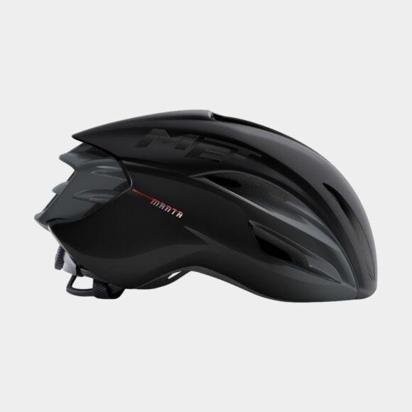 Cykelhjälm MET Manta MIPS Black/Matt Glossy, Medium (56 - 58 cm)