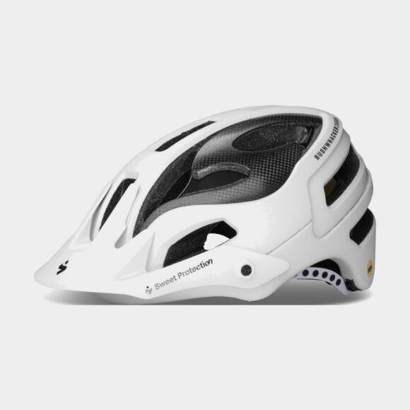 Cykelhjälm Sweet Protection Bushwhacker II Carbon MIPS Matte White Metallic, Medium/Large (56 - 59 cm)