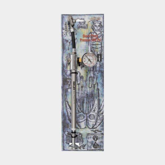 Dämparpump Giyo 21/300 AG, med analog tryckmätare (manometer)
