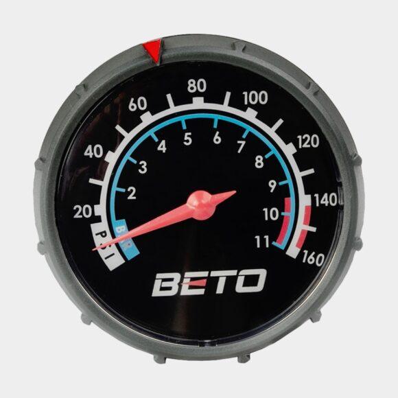 Fotpump BETO, med analog tryckmätare (manometer)
