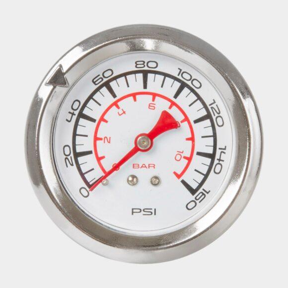 Fotpump M-Wave Air Flow, med analog tryckmätare (manometer), med extra lång slang