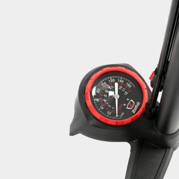 Fotpump Zefal Profil Max FP60 Z-Switch, med analog tryckmätare (manometer), med extra lång slang