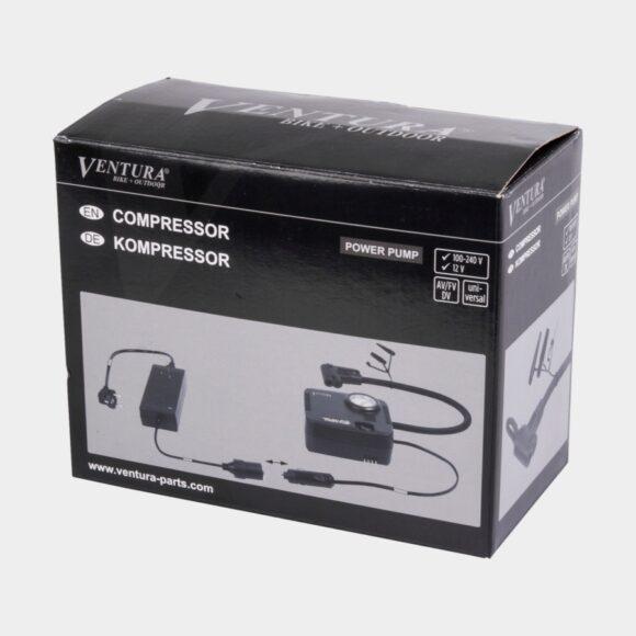 Kompressor Ventura Power Pump, med analog tryckmätare (manometer)
