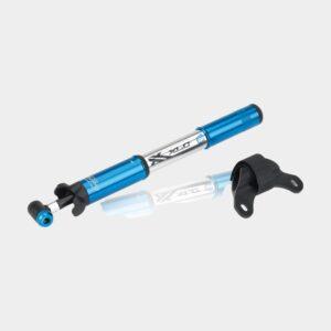 Minipump XLC PU-R03, med extern slang, silver/blå + ramfäste