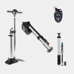 Pumppaket BAS för MTB, fotpump + minipump + dämparpump