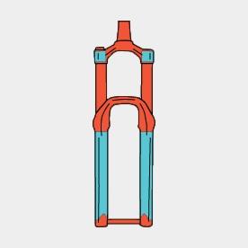 Gaffelskydd RideWrap Covered Frame Protection Kit Fork MTB Matte