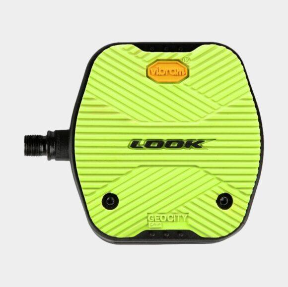 Pedaler LOOK Geo City Grip, 1 par, Standardpedaler, limegrön