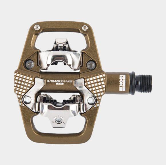 Pedaler LOOK X-Track EN-Rage+, 1 par, SPD, brons, inkl. klossar