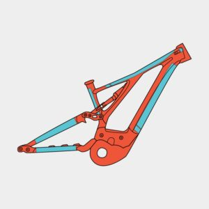 Ramskydd RideWrap Covered Frame Protection Kit eMTB Gloss