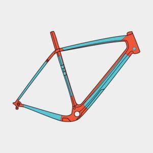 Ramskydd RideWrap Covered Frame Protection Kit Gravel/Road Gloss