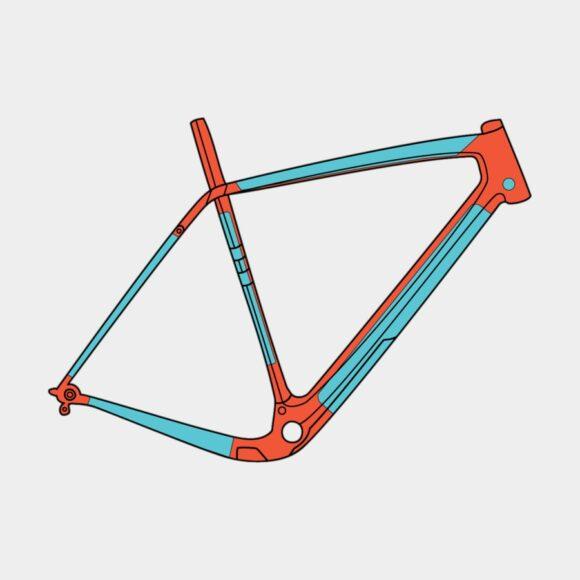 Ramskydd RideWrap Covered Frame Protection Kit Gravel/Road Matte
