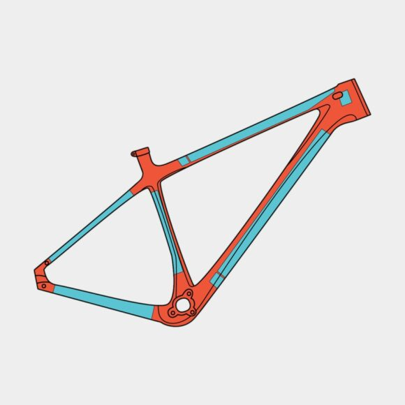 Ramskydd RideWrap Covered Frame Protection Kit MTB Hardtail Gloss