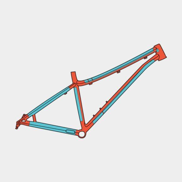 Ramskydd RideWrap Covered Frame Protection Kit MTB Steel Frame Gloss