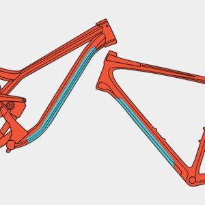 Överrörsskydd RideWrap Essential Frame Protection Kit Toptube Gloss