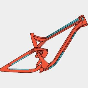 Ramskydd RideWrap Essential Frame Protection Kit MTB Gloss