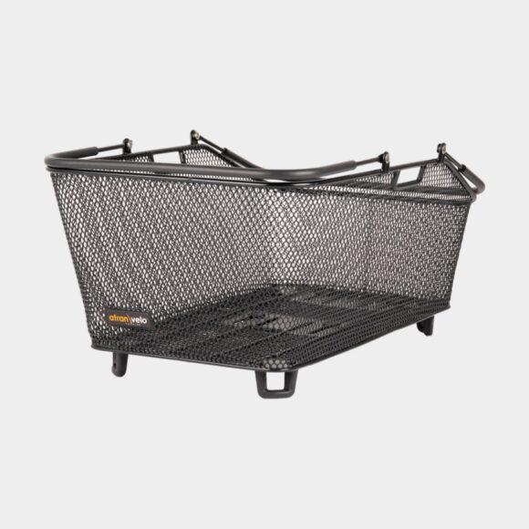Cykelkorg Atran Velo Daily L, stål, på pakethållaren, med handtag