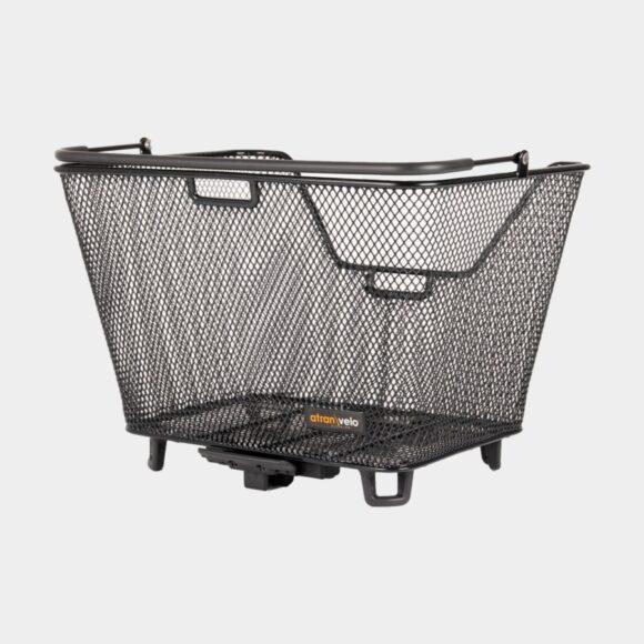 Cykelkorg Atran Velo Daily M, stål, på pakethållaren, med handtag