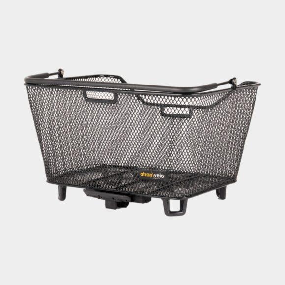 Cykelkorg Atran Velo Daily S, stål, på pakethållaren, med handtag