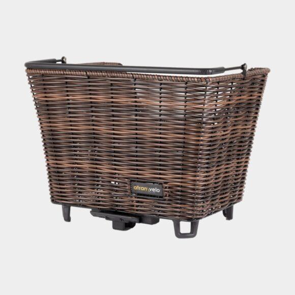 Cykelkorg Atran Velo Picnic M, rotting, på pakethållaren, med handtag, brun