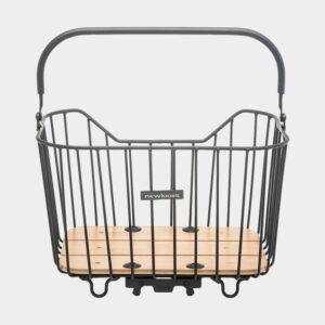 Cykelkorg Newlooxs Palermo, aluminium, på pakethållaren, med handtag