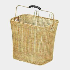 Cykelkorg TWS plast, på pakethållaren, med handtag, beige