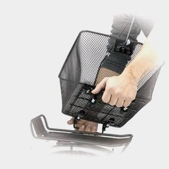 Cykelkorg TWS Quick-Release, stål, på pakethållaren, med handtag