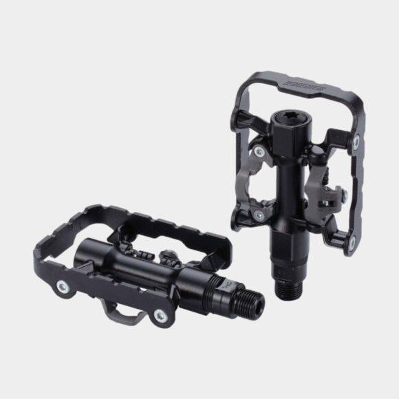 Pedaler BBB DualChoice BPD-23, 1 par, Kombipedaler, svart, inkl. klossar