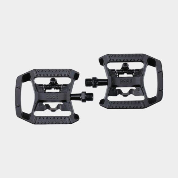 Pedaler BBB DualChoice BPD-61, 1 par, Kombipedaler, svart, inkl. klossar