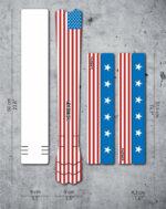 Ramskydd DYEDBRO American Flag Colour