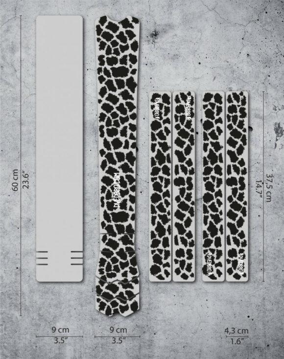 Ramskydd DYEDBRO K Mack Animal Print Black Gloss