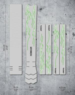 Ramskydd DYEDBRO Lightning Green