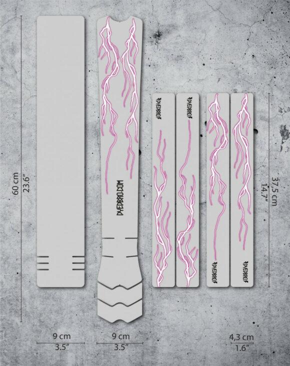 Ramskydd DYEDBRO Lightning Pink