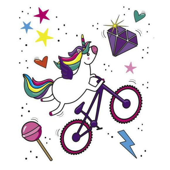 Ramskydd DYEDBRO Unicorn Glitter