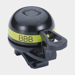 Ringklocka BBB EasyFit Deluxe Ø32 mm, mässing, svart/gul