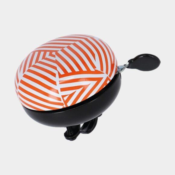Ringklocka XLC DD-M09 Mingun Stripes, Ø83 mm, aluminium, orange/vit