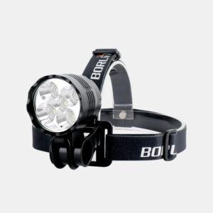 Framlampa Boruit ULTRA 1200 + hjälmfäste + pannband + förlängningskabel