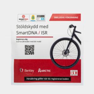 DNA-märkning SmartDNA Smart Protection för cykel och barnvagn + 1 års trygghetsförsäkring