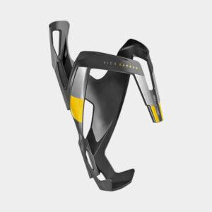 Flaskhållare Elite Vico Carbon, kolfiber, svart/gul