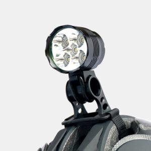 Hjälmlampa Boruit ULTRA 1200 + styrfäste + pannband + förlängningskabel