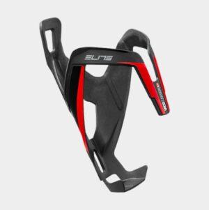 Flaskhållare Elite Vico Carbon 20, kolfiber, svart/röd