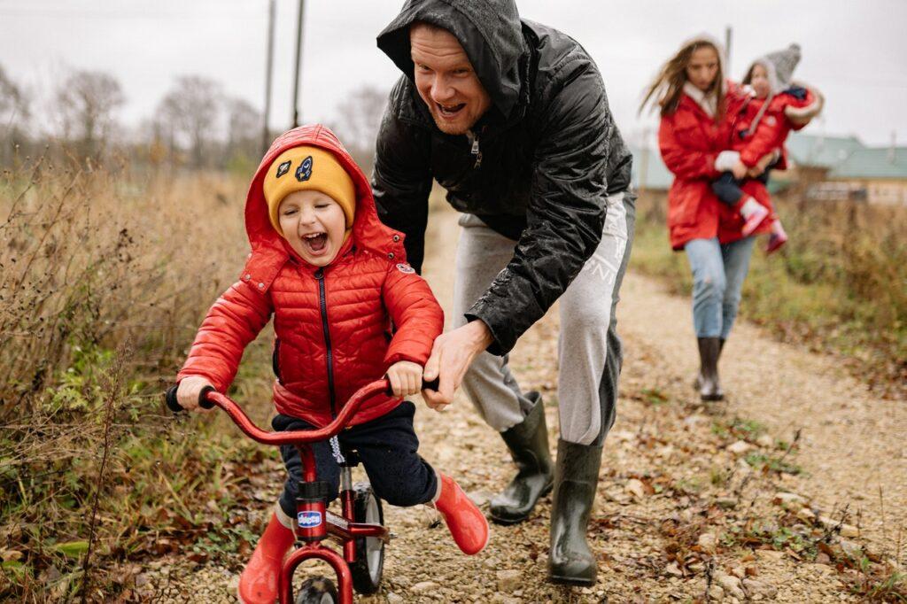 lära barn cykla