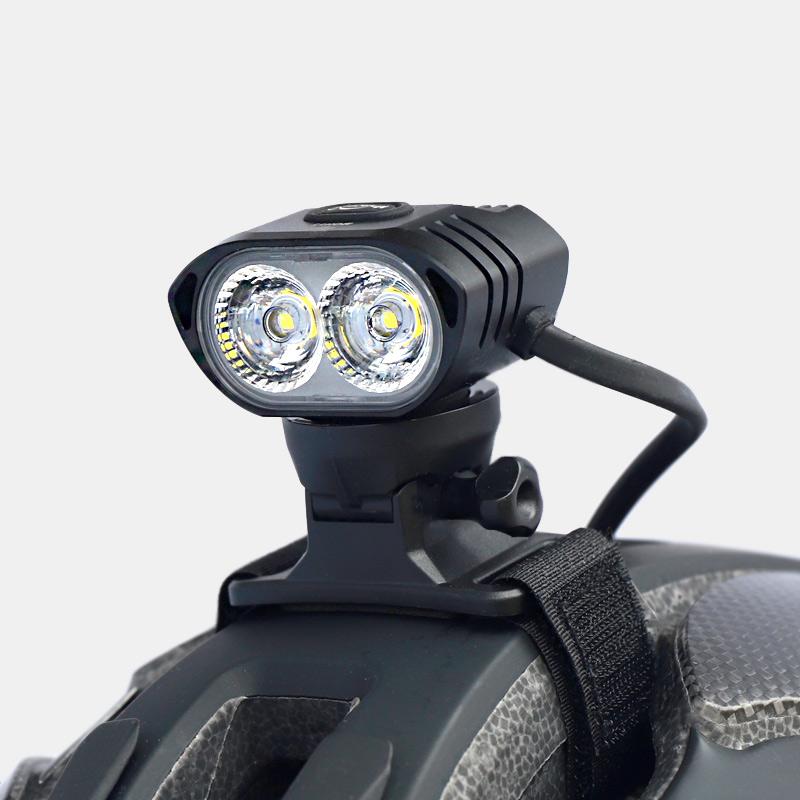 Lampset mtb hjälmlampa magicshine moh aquila 55 pro + pannband