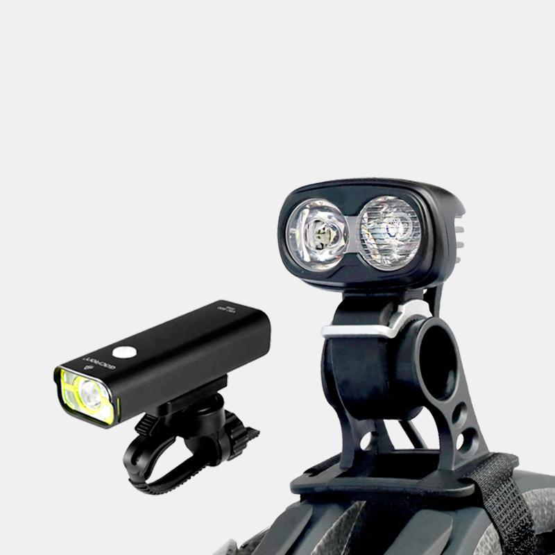 Lampset MTB Hjälmlampa Boruit ULTRA 960 / Framlampa Gaciron Commuter X 800