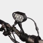 Framlampa M-Tiger Superion II + hjälmfäste + pannband