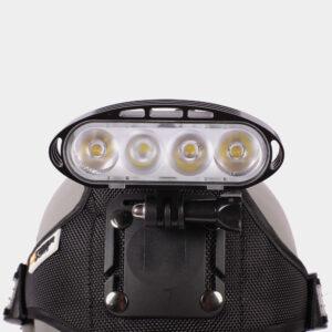 Framlampa M-Tiger Hyperion II + pannband + hjälmfäste