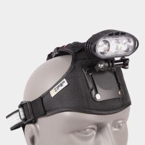 Framlampa M-Tiger Theia II + pannband + hjälmfäste